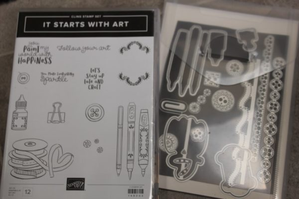 It starts with Art stamps and Arts & Crafts dies
