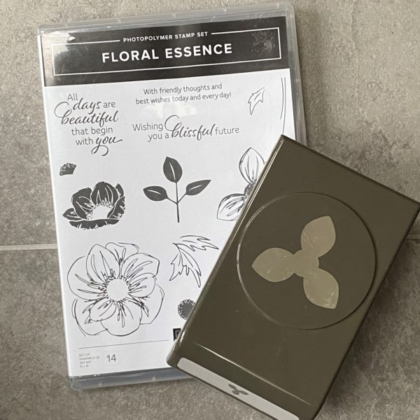Floral Esscence stamp and punch