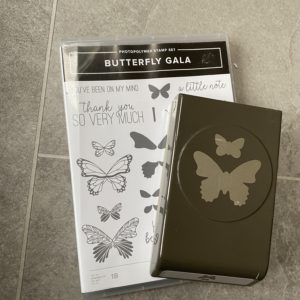 Butterfly Gala stamp and punch set