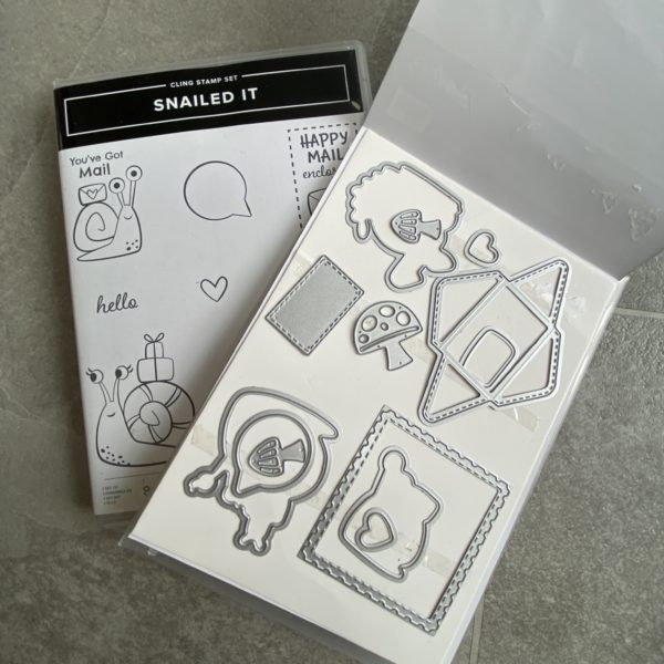 Snailed It stamp and Die set