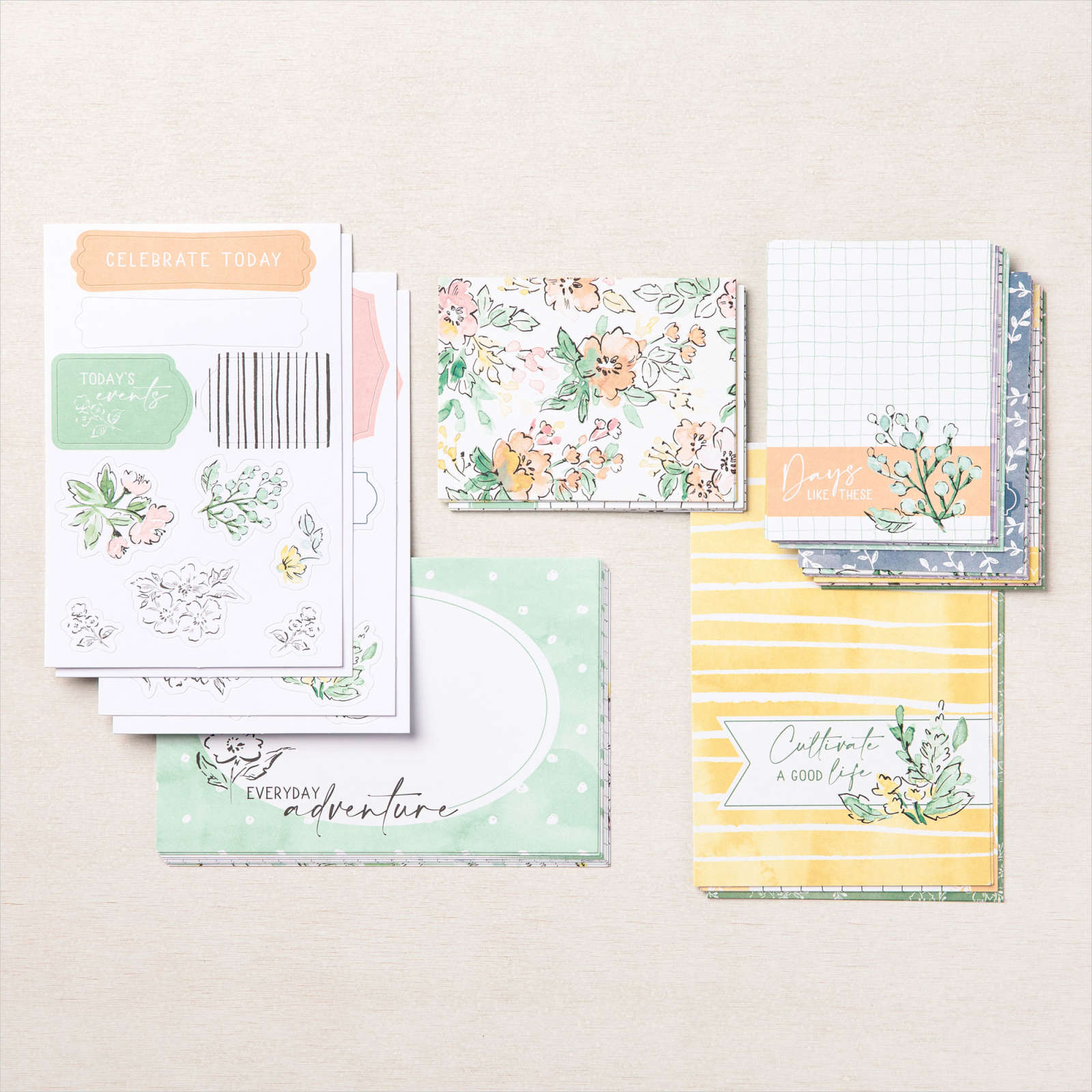 Memories and More Hand Penned Petals card packs