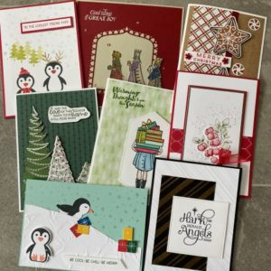 Selection of quick and easy christmas cards